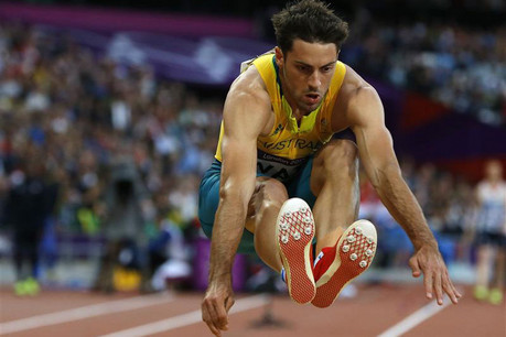 Mitchell Watts competing in the men's long jump finals  (Reuters)