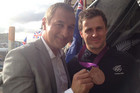 Me with New Zealand Keirin-bronze medalist Simon van Velthooven
