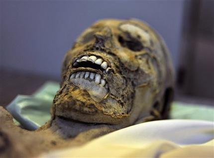 One of the 265 mummies