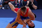 Roman Vlasov of Russia, in red (Reuters)