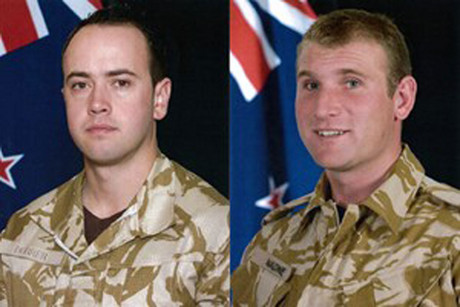 Lance Corporal Durrer (left) and Lance Corporal Malone