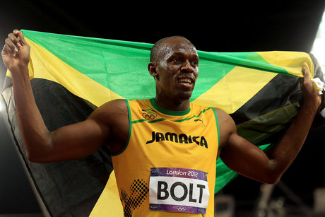 Jamacia's Usain Bolt celebrates winning gold in the men's 100m final at the Olympic Stadium, London (Photo: AAP)