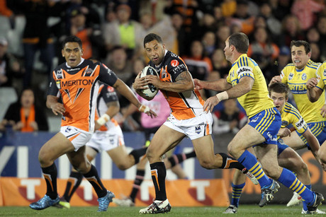 Tigers heading for the win against the Eels (AAP ONE)