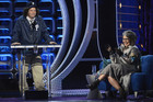 Jeff Ross and Roseanne Barr at the Comedy Central roast (Reuters)