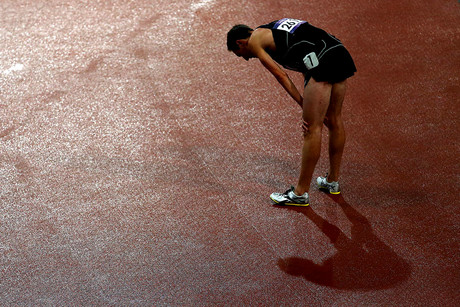 New Zealand's Nick Willis dejected after finishing ninth in the 1500m final (Photosport)
