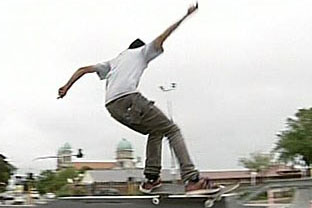 The law would require skateboarders to stop at stop signs and obey speed limits  (file pic)