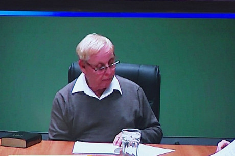 Gerald Shirtcliff appearing via video link at the Earthquake Commission