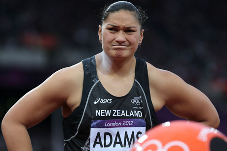 Valerie Adams at the Olympics shot put final (Photosport)