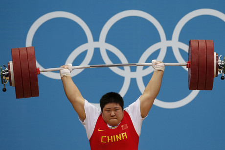 China's Zhou Lulu broke the world record for women's weightlifting, lifting 333kg at the London Olympics (Reuters)