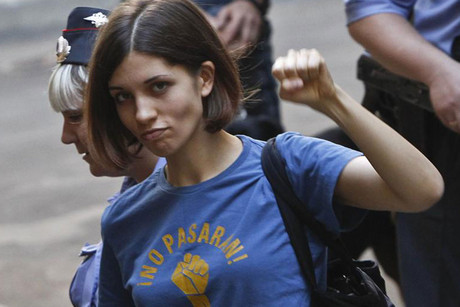 Tolokonnikova, a member of the female punk band Pussy Riot (Reuters)