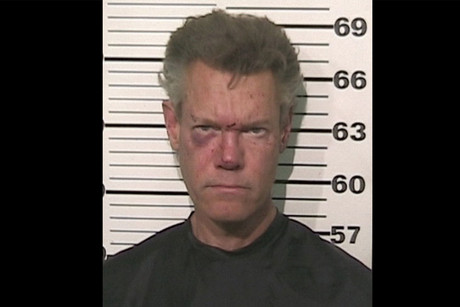 Police mug shot of Randy Travis