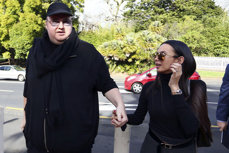 Dotcom with wife Mona (Reuters)