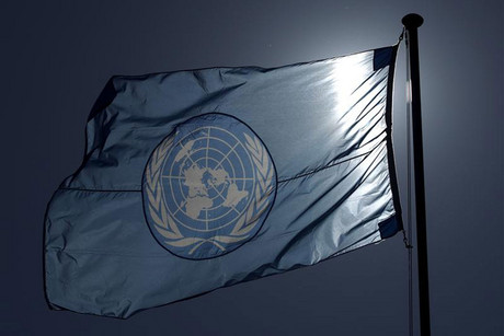 A United Nations flag flies on a mast at their European headquarters in Geneva (Reuters)