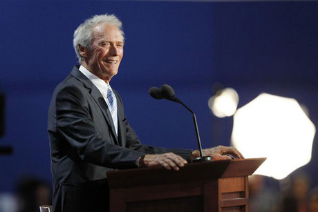Actor Clint Eastwood addresses the final session of the Republican National Convention in Tampa (Reuters)