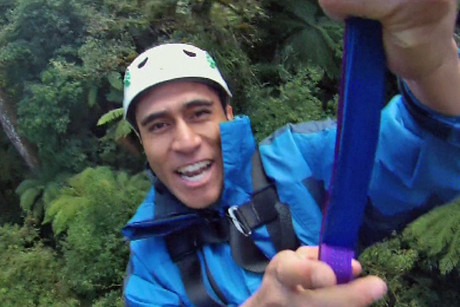 Sanele Chadwick tries out Rotorua's new zip-line canopy tour