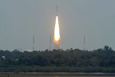 India's Polar Satellite Launch Vehicle (PSLV) C-21 blasts off, carrying two foreign satellites from the Satish Dhawan space centre at Sriharikota, north of the southern Indian city of Chennai (Reuters)