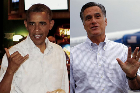 Barack Obama (L) and Mitt Romney (R) (Reuters file)