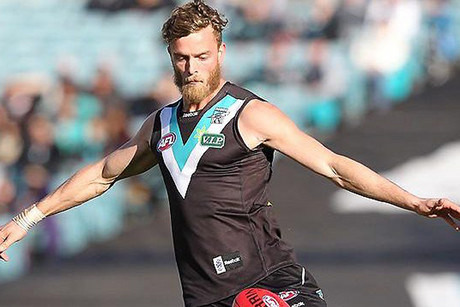 Port Adelaide player John McCarthy (file pic)