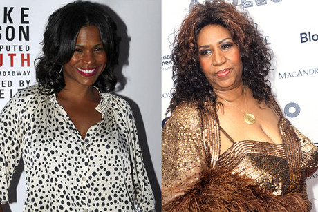 Nia Long (L) and Aretha Franklin (R)