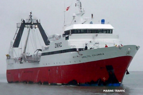 The crew of the Amaltal Columbia have now been safely rescued (Marine Traffic)