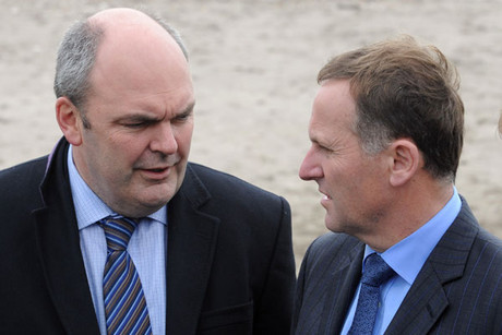 Steven Joyce and John Key