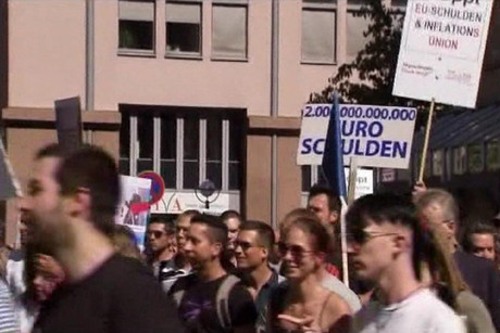 There have been protests in Germany over the bailouts