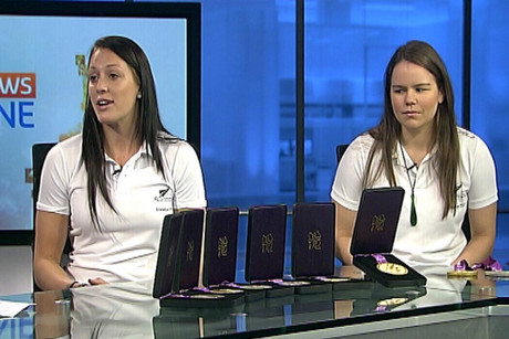 Sophie Pascoe and Mary Fisher on Firstline this morning