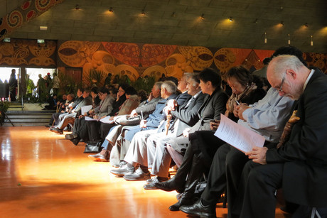 More than 1,000 iwi leaders, politicians and other Maori took part in yesterday's hui (Photo: Will Pollard)