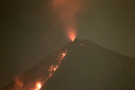 The Fuego volcano erupting earlier this year  (Reuters)