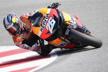 Honda MotoGP rider Dani Pedrosa of Spain (Reuters)