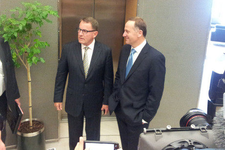 ACT Party leader John Banks (L) and Prime Minister John Key