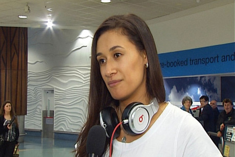 Maria Tutaia at Auckland Airport today