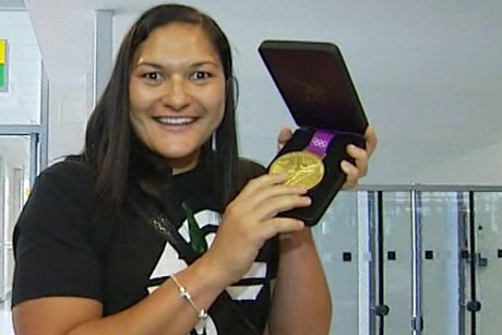 Valerie Adams has her gold medal