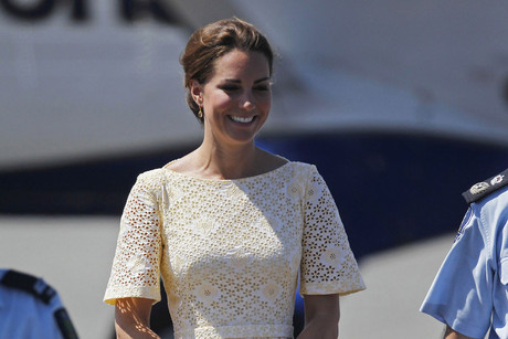 The Duchess of Cambridge arrives in the Solomon Islands (Reuters)