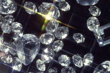 The diamonds could be twice as hard as conventional diamonds (file pic)