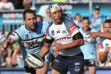 Johnathan Thurston in action for the Cowboys (AAP)