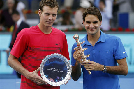 Federer and Tomas Berdych, the man who beat him in the quarterfinals of the U.S. Open