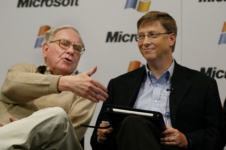 Warren Buffet and Bill Gates in 2003 (Reuters)