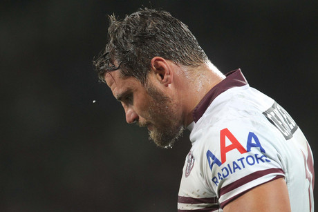 Anthony Watmough looks dejected after the loss (AAP)
