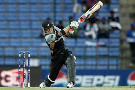 Brendon McCullum slogs away (Photosport)