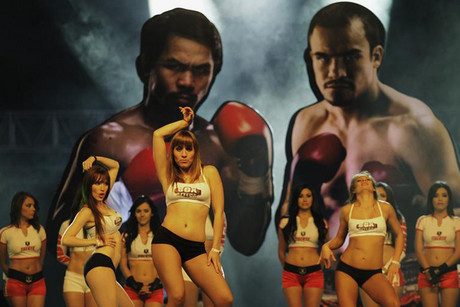 Dancers perform as part of the Manny Pacquiao and Juan Manuel Marquez fight promotion