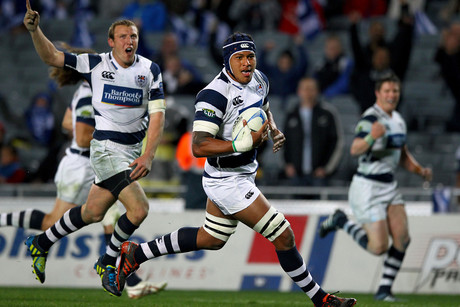 Auckland's Nathan Hughes runs in a try (Photosport file)