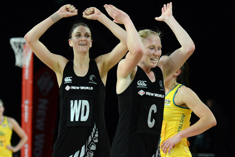 Netball's Harrison hoist got a rare public outing 