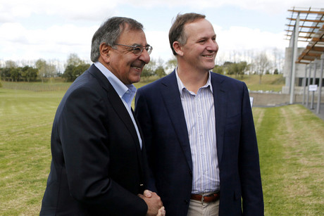 Prime Minister John Key (right) with US Defence Secretary Leon Panetta (Reuters)