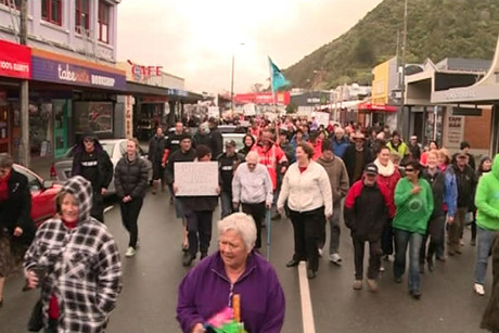 Miners from Spring Creek are taking their protest to Wellington