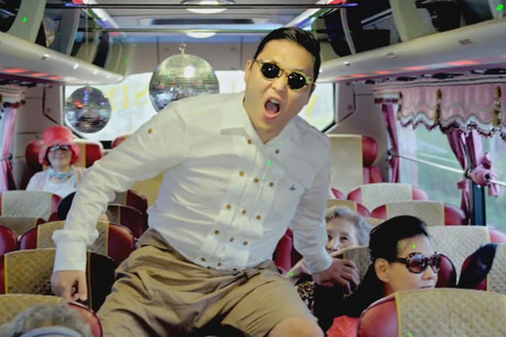 PSY in the video for 'Gangnam Style'
