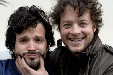 Bret McKenzie and Hamish Blake, the stars of Two Little Boys (AAP)