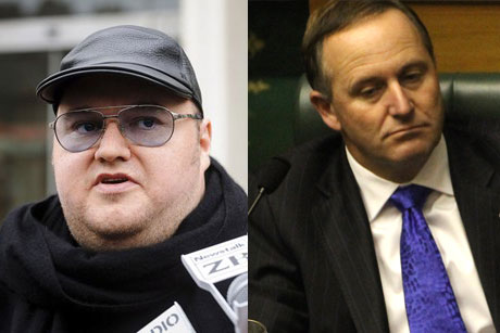 Kim Dotcom and John Key