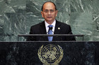 Burma's President Thein Sein addresses the 67th United Nations General Assembly (Reuters)