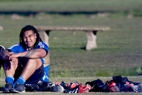 Ma'a Nonu on the sideline at training in Buenos Aires (Photosport)